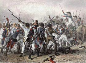 Franse straf voor opstandige slaven