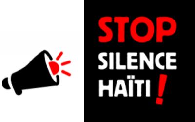 """""""Stop de stilte rond Haïti!"""""""